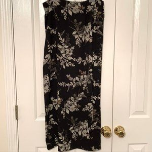 Casual Corner Annex Sz 8 Long Flowing Black Skirt